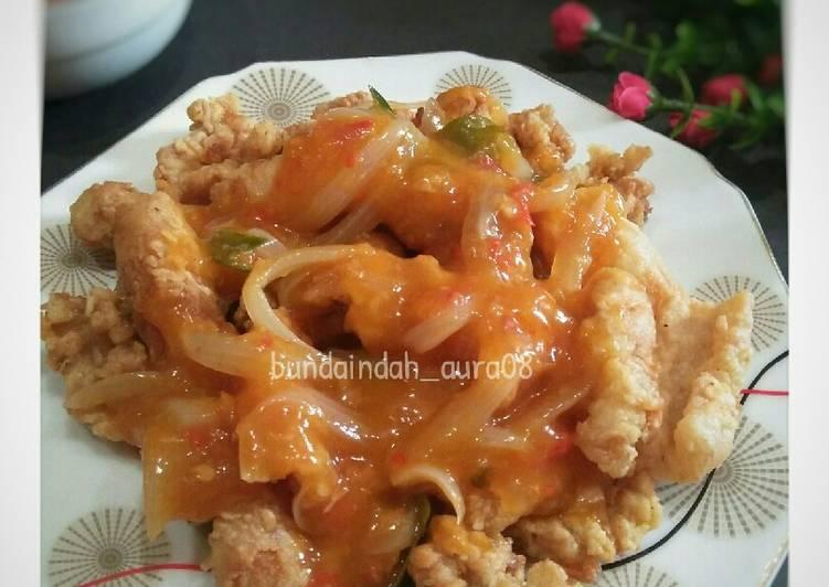 Cumi Goreng Tepung saus Padang