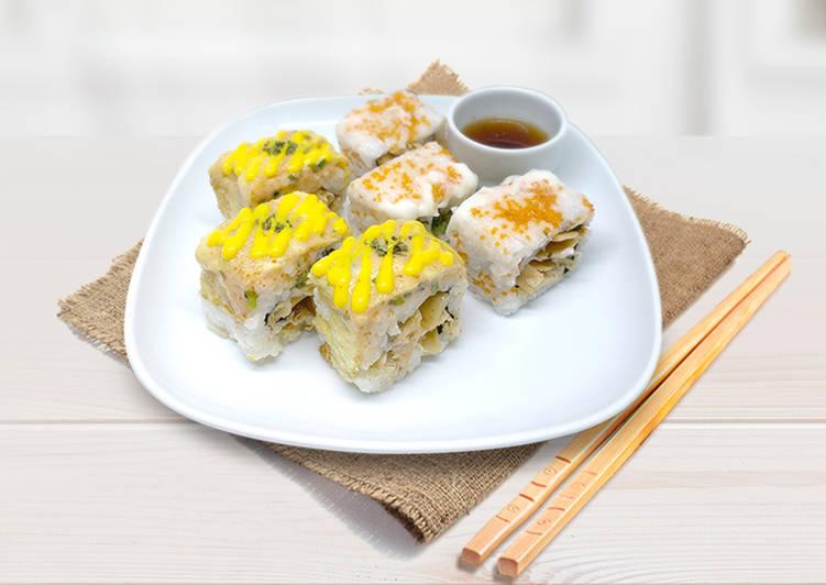 Salmon Mentai & Spicy Tuna Sushi