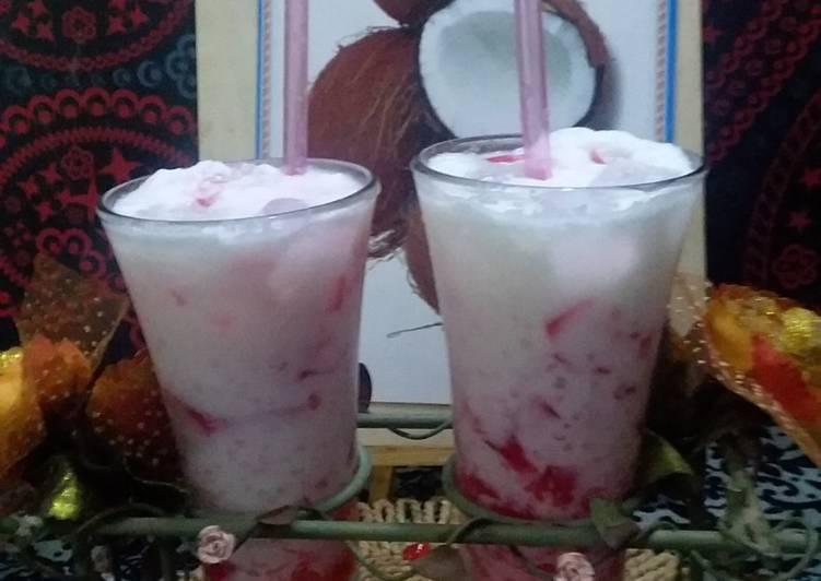 Recipe of Homemade Coconut milk shake