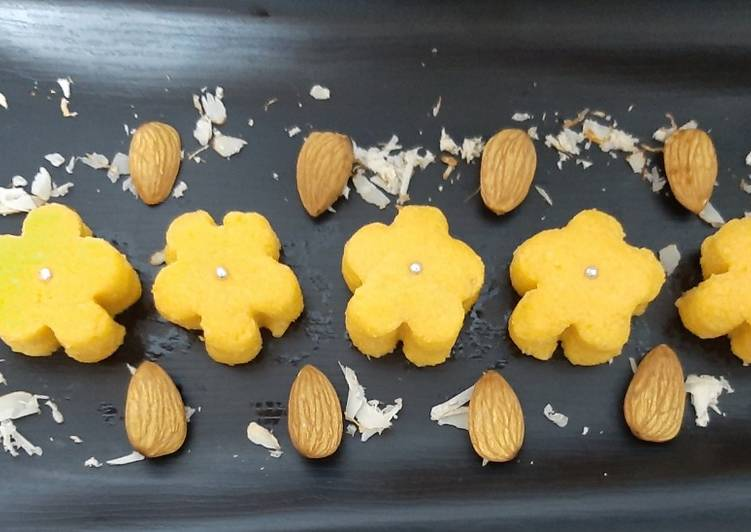 30 Minute Step-by-Step Guide to Make Refreshing Almond Orange Sandesh