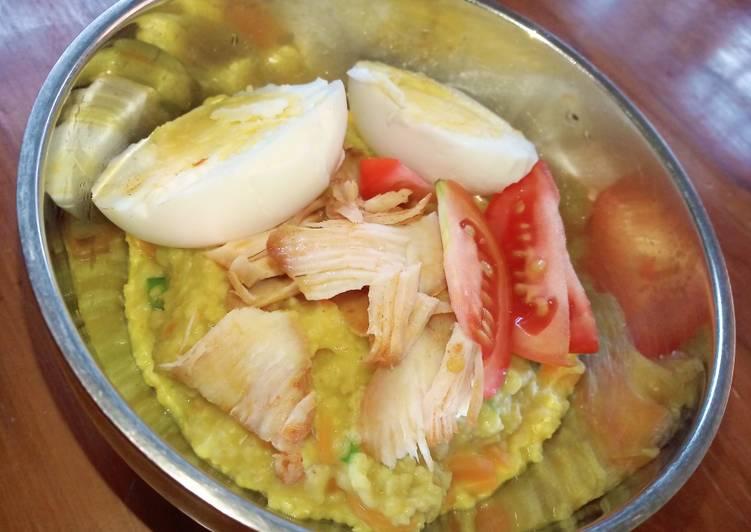 Bubur ayam oatmeal (Quaker)