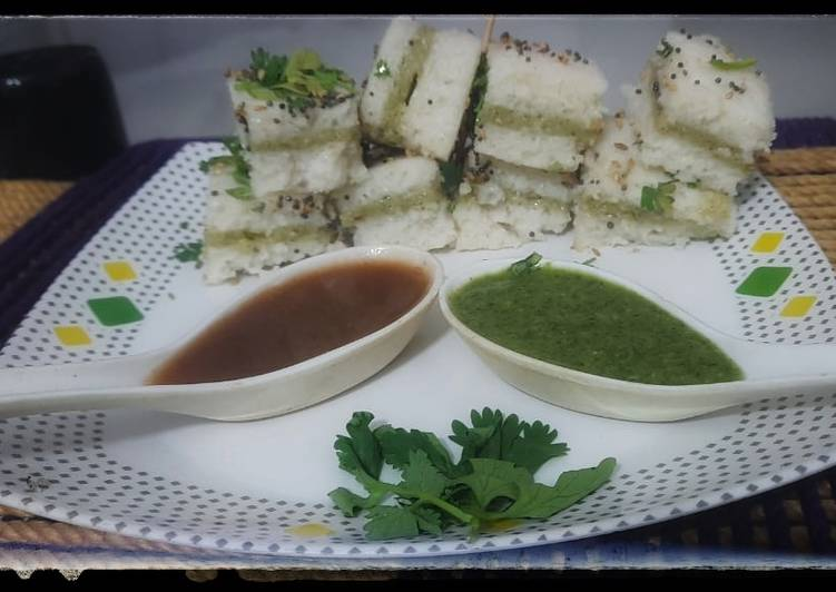 30 Minute Simple Way to Prepare Love Sandwich Dhokla