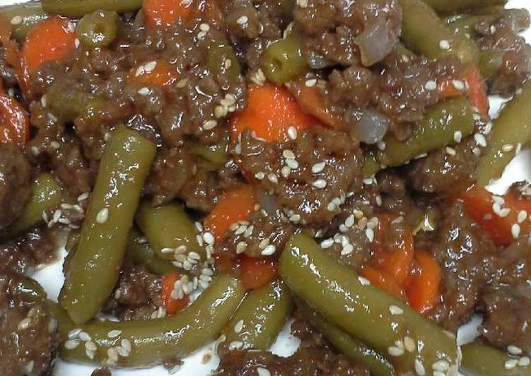 Guava beef with vegetables