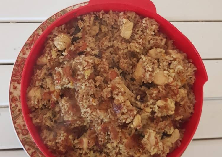 NASI KEBULI AYAM beras merah