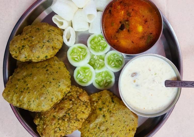 Easiest Way to Make Homemade No Onion No Garlic Puri Thali