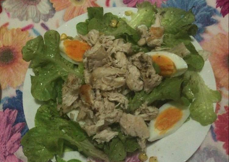 Salade aux poulets