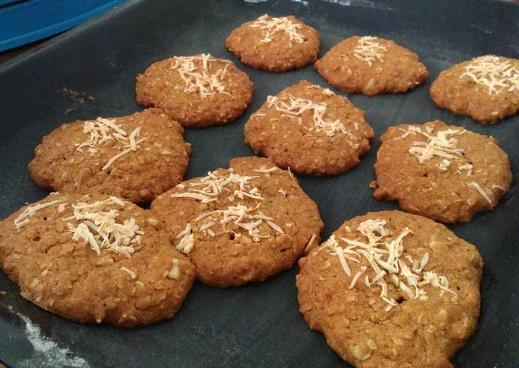 Simple Oatmeal almond cookies