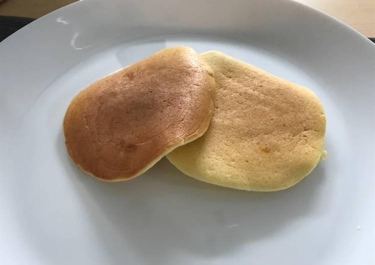 Fluffy Pancake simple ingredients, no baking powder