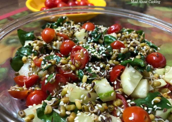 Cherry Tomato Spinach Salad – Super Healthy Salad