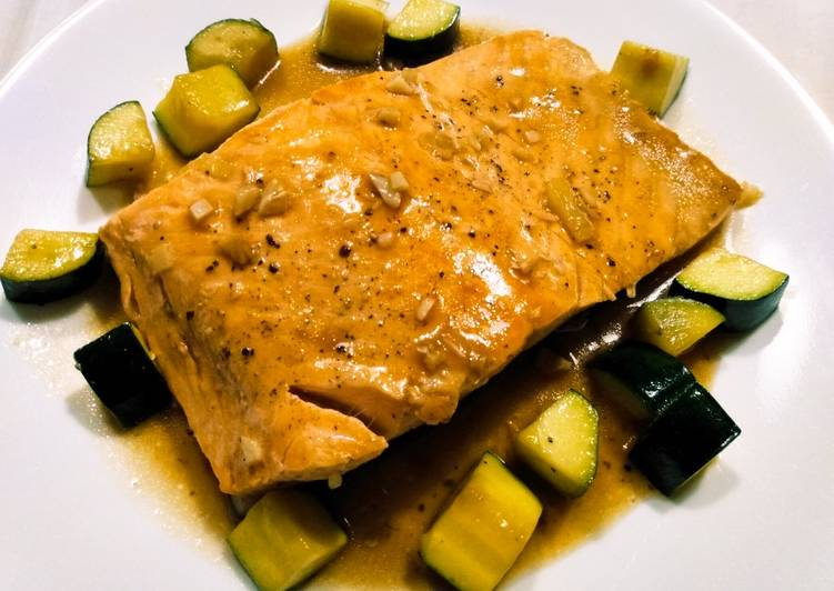 Living Greener for Better Health By Dining Superfoods Salmon and zucchini braised in oyster sauce