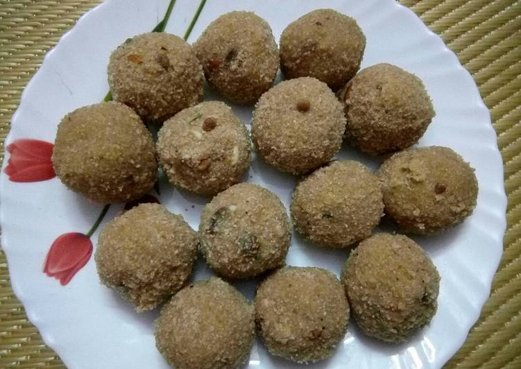 Recipe of Super Quick Homemade Wheat Flour Ladoo