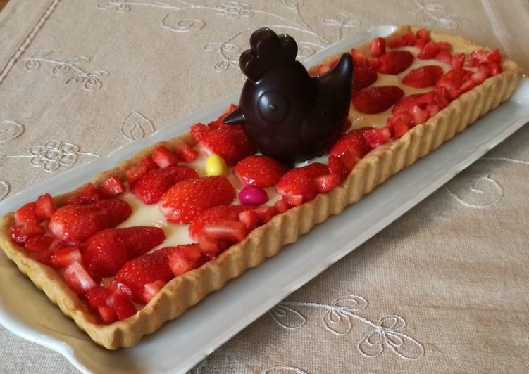 recette Tarte aux fraises le délicieux