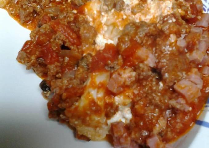 Meaty cauliflower casserole