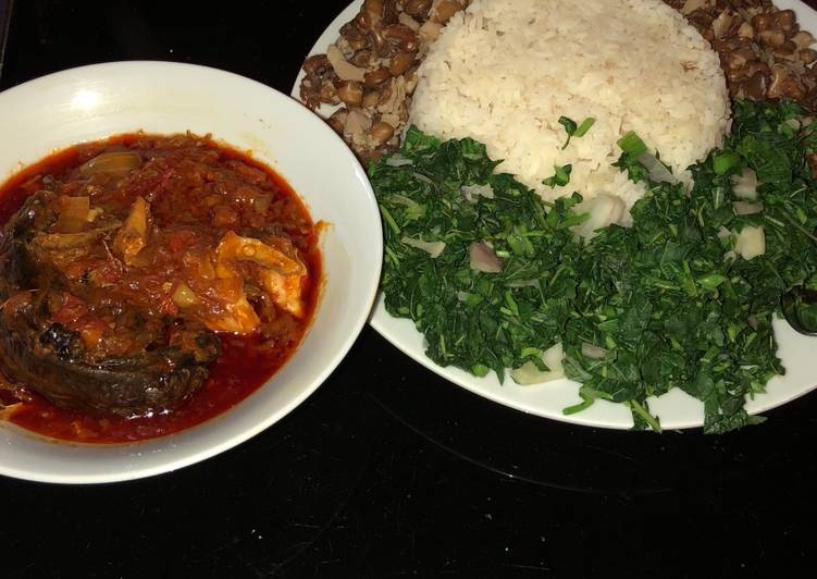 Step-by-Step Guide to Make Super Quick Homemade Veggie rice and beans with fish stew