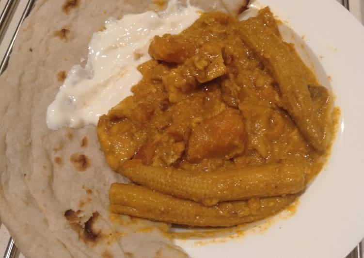 Slow cooked Fish and Sweet Potato Curry