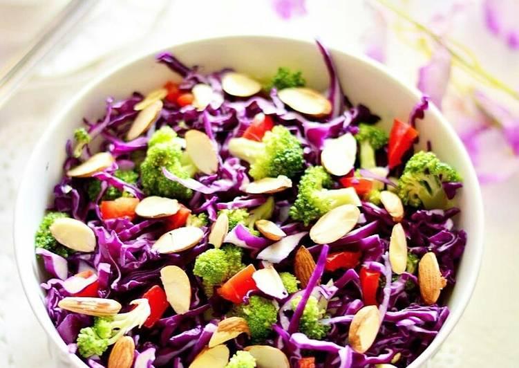 Crunchy Salad With Miso Orange Dressing