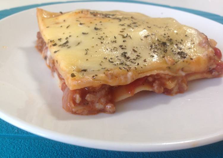 Meat-heavy lasagne