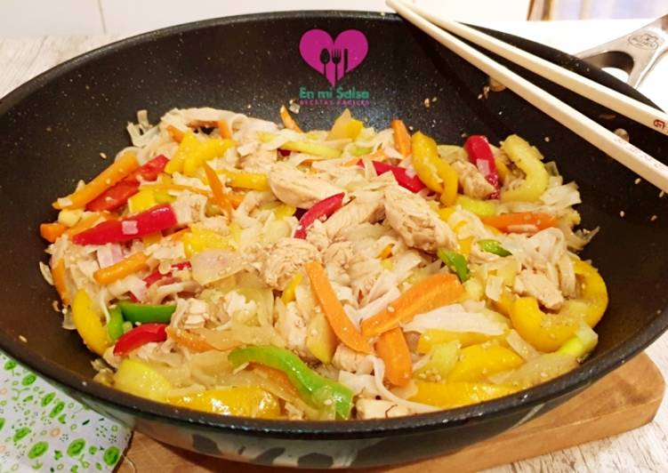 recetas faciles wok de pollo