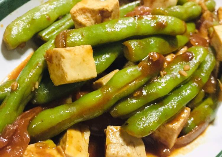 Korean Inspired Green Beans Stir Fry
