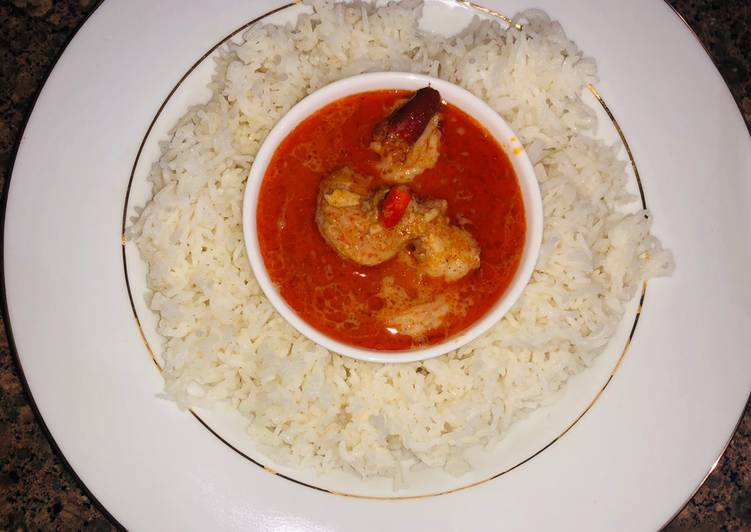 Thai Prawns/Shrimp Red Curry Finding Nutritious Fast Food