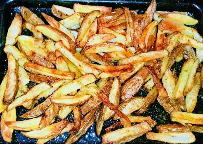 Roasted french fries