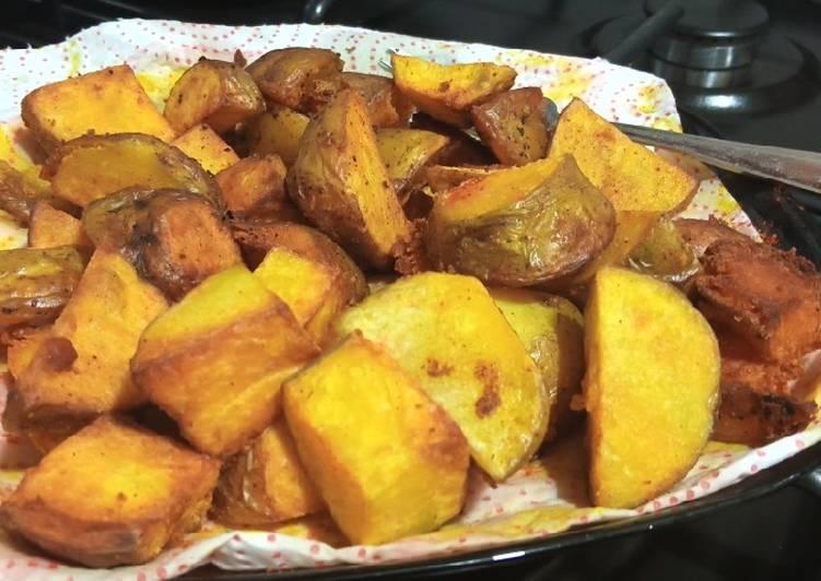 Simple Way to Prepare Perfect Pan fried tumeric potatoes 😋