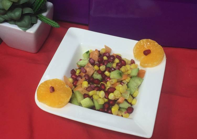 Step-by-Step Guide to Prepare Any-night-of-the-week Pomegranate and Corn Salad