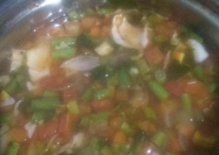 Sup Tomat Rendah Kalori - sangat mudah