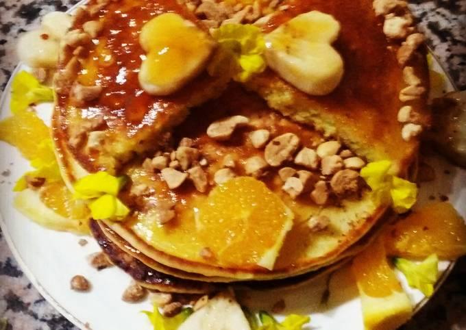 Pancake à l'orange,banane