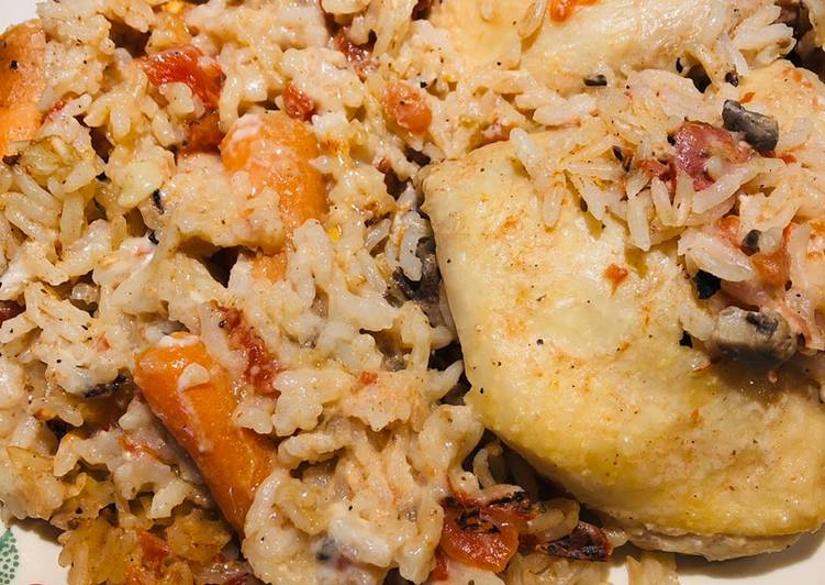Recipe of Award-winning Chicken, Carrot and Rice Bake