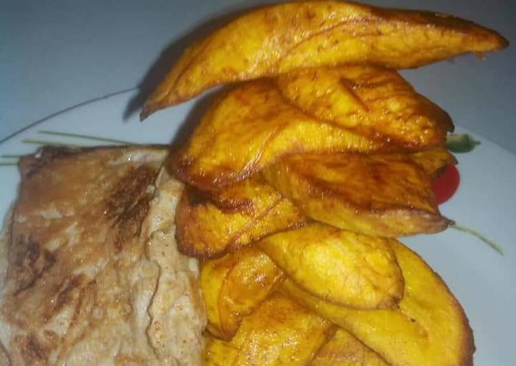 Plantain and egg