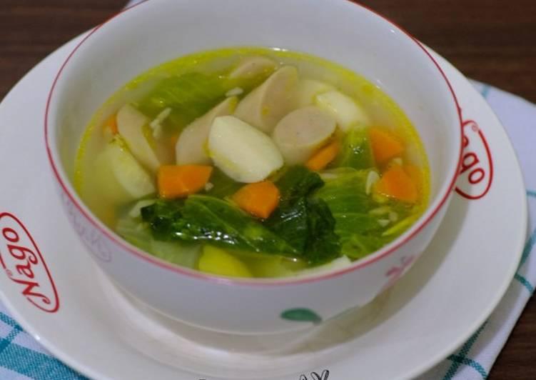 Sop Sayur + Sosis + Bakso Ikan
