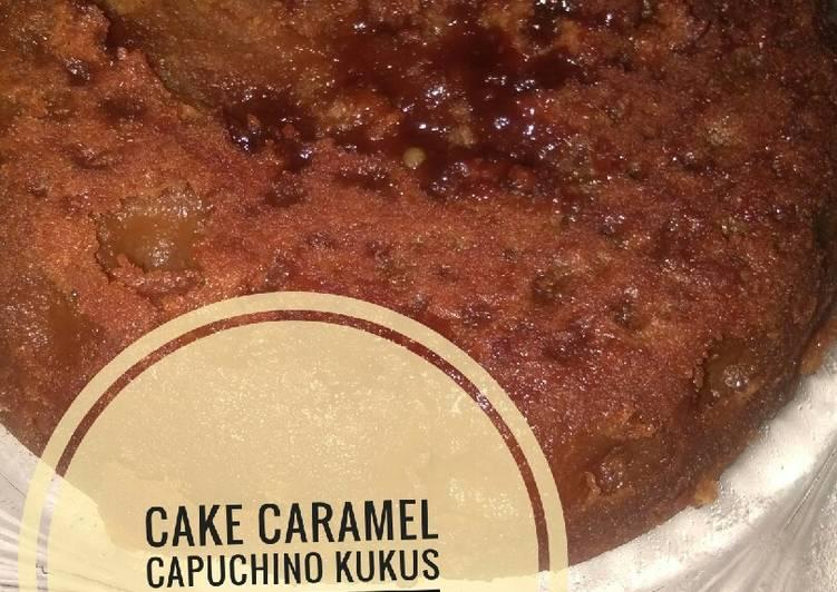 resep menyajikan Bolu karamel capuchino kukus - Sajian Dapur Bunda