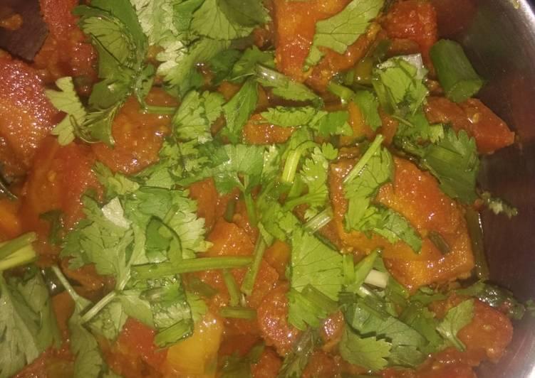 Carrot green onion Sabji