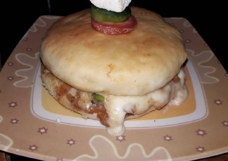 Recipe: Tasty Burger pizza (Double layer pizza)