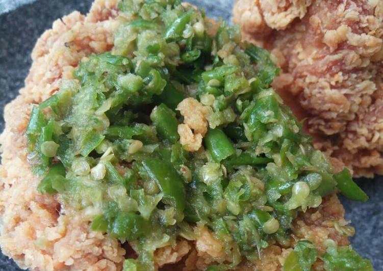 Sambal Ayam Geprek Rawit Ijo