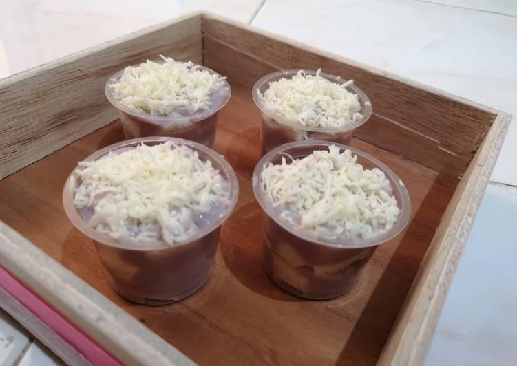Setup roti tawar (taro toping keju)