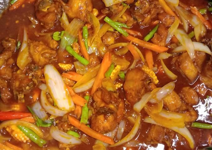 Ayam paprik bujang style