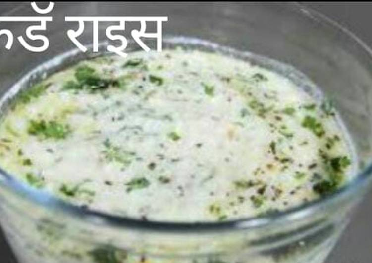 25 Minute Easiest Way to Make Cooking Curd rice