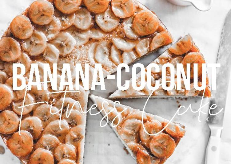 How to Cook Appetizing Fitness Recipe: Upside-down Banana-Coconut Cake