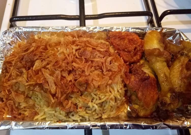 Nasi kebuli with basmati rice (cook with magic com)