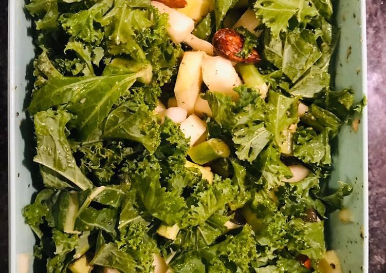 Salade de kale, chou rave