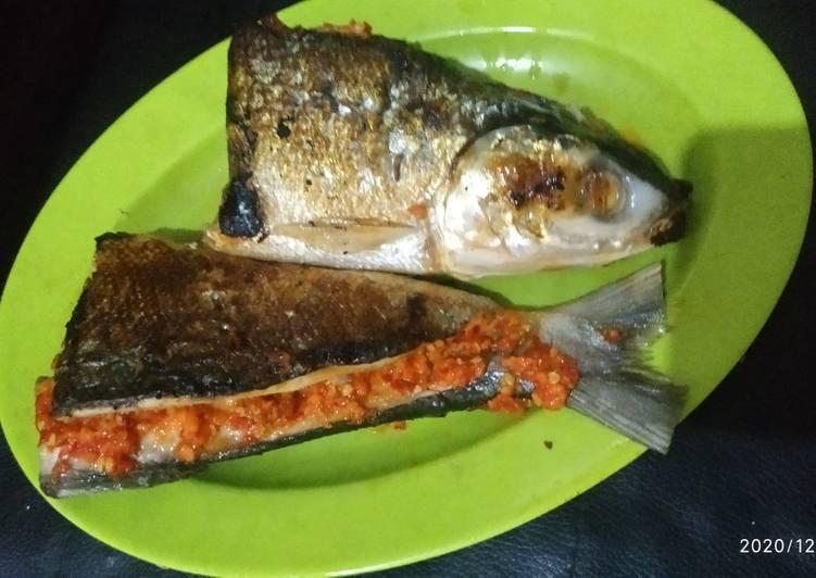 Ikan bakar bandeng/bolu teflon (bumbu bugis)