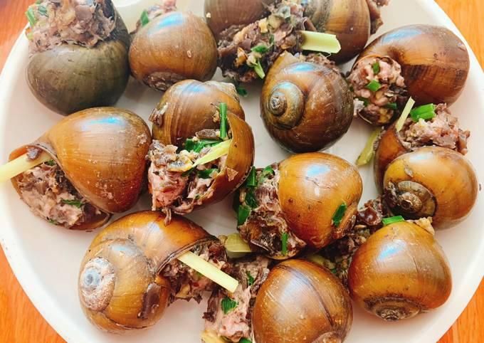 Cách Làm Món Ốc nhồi hấp sả của Bích Nguyễn Thị - Cookpad