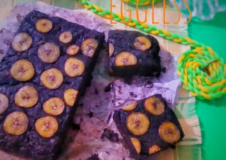 Brownies pisang eggless (takaran gelas no mixer)