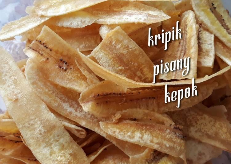 Kripik pisang kepok gurih