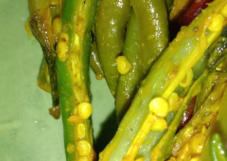 Easiest Way to Make Quick Green chilli pickle