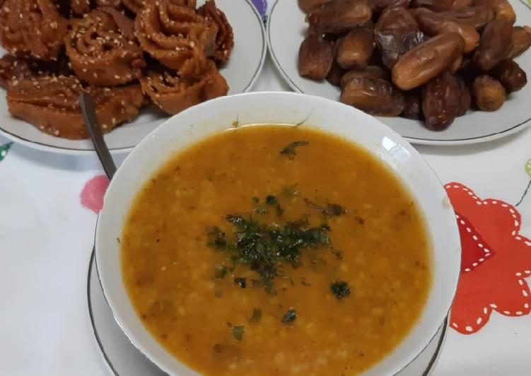 Sopa marroquí de cebada para el ftour de Ramadán