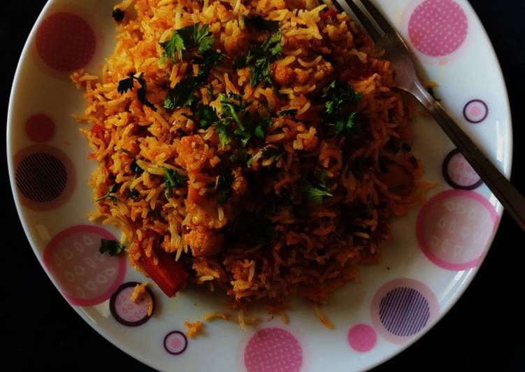 Recipe of Any-night-of-the-week Vegetable dum biriyani