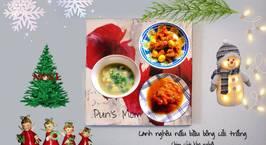 Hình ảnh món Canh nghêu nấu bầu bông cải trắng Chim cút kho nghệ